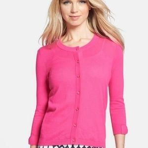 NWOT Kate Spade Pink 3/4 Bow Sleeve Cardigan Large